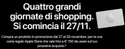 Foto Apple Black Friday 2020: carta regalo fino a 150 euro acquistando determinati prodotti