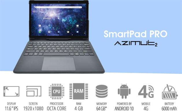 Mediacom SmartPad Pro Azimut2 con display 11.6, Tastiera, Android 10 e 4G in Italia