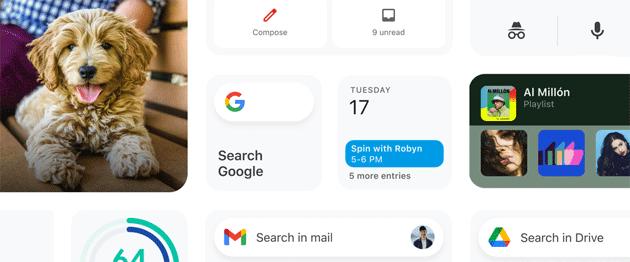 Nuovi widget dalle app Google su iOS 14, riguardano Gmail, Drive, Fit, Calendar e Chrome
