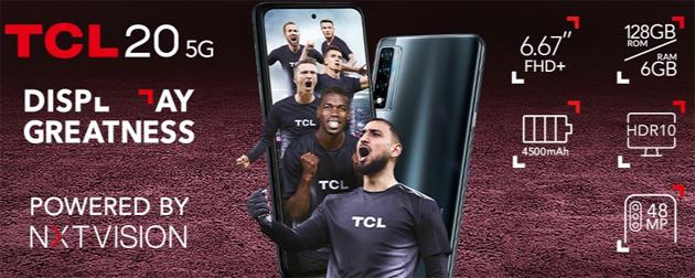 TCL 20 5G con ampio display e tripla camera in Italia a meno di 300 euro