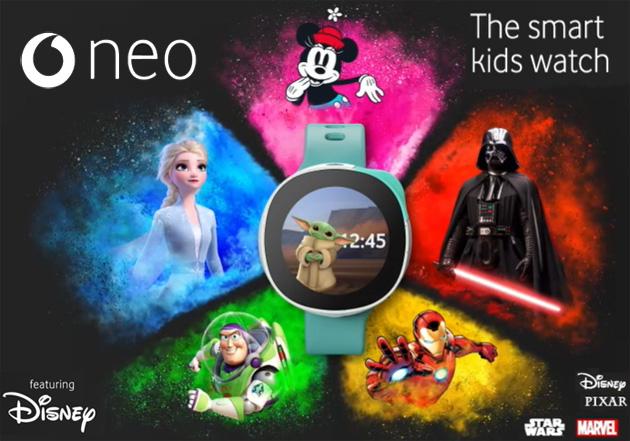 Vodafone NEO, smartwatch per bambini con personaggi Disney e connettivita' 4G
