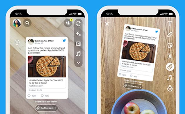 Su Snapchat tweet ora condivisibili direttamente da Twitter