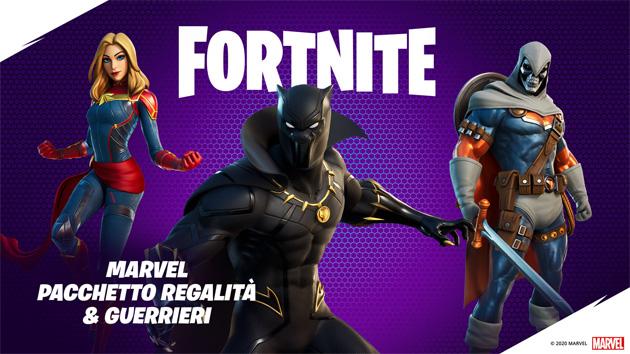 Su Fortnite arrivano Black Panther, Captain Marvel e Operazione coi Fiocchi