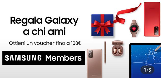 Samsung regala Buoni Sconto fino a 100 euro per Natale 2020