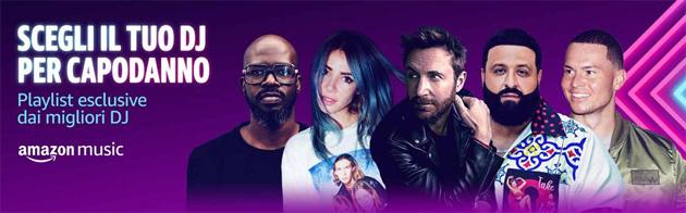 Amazon Music fa scegliere il DJ per Capodanno
