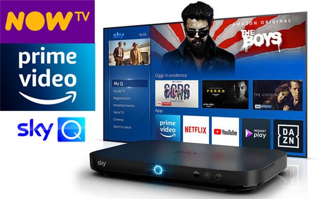 Amazon Prime Video su Sky Q e device NOW TV. In arrivo app NOW TV su Fire TV