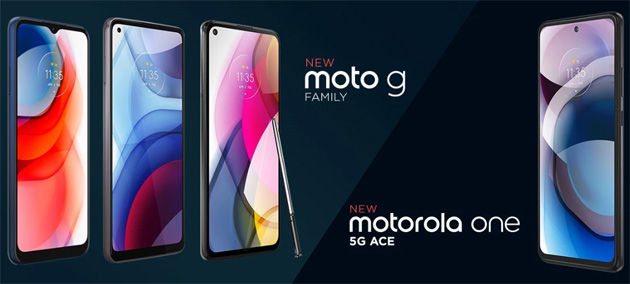 Foto Motorola annuncia One 5G Ace e G Stylus, G Power e G Play gamma 2021
