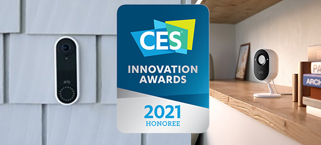 Arlo Essential Indoor Camera e Touchless Video Doorbell premiati al CES 2021