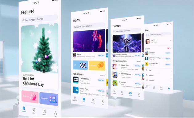 Huawei AppGallery ha nuova interfaccia che migliora la user experience
