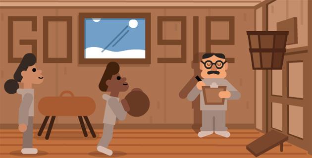 Google dedica Doodle al dottor James Naismith, inventore del gioco del Basket