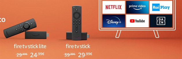 Foto Dispositivi Amazon Echo e Fire TV in offerta oggi 13 gennaio 2021