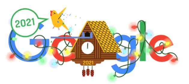 Google dedica doodle a Capodanno 2021