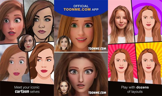 ToonMe, la app del momento che trasforma in personaggi animati come quelli Pixar