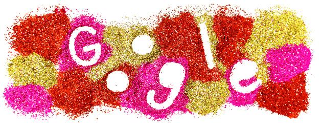Doodle di Google glitterato per San Valentino 2021