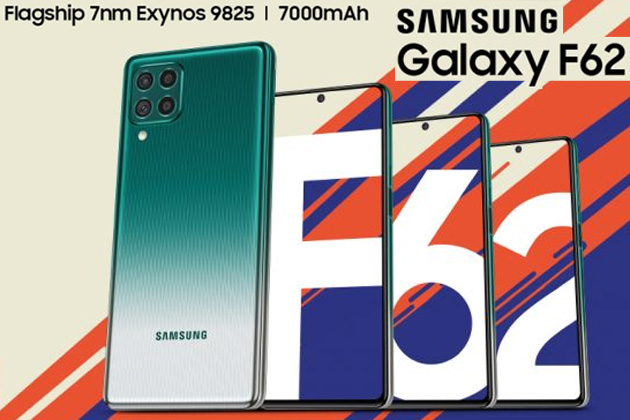 Samsung Galaxy F62 con batteria 7000mAh, camera da 64MP e display Super Amoled Plus ufficiale