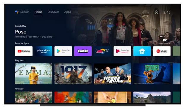 Foto Android TV si aggiorna con interfaccia simile a Google TV
