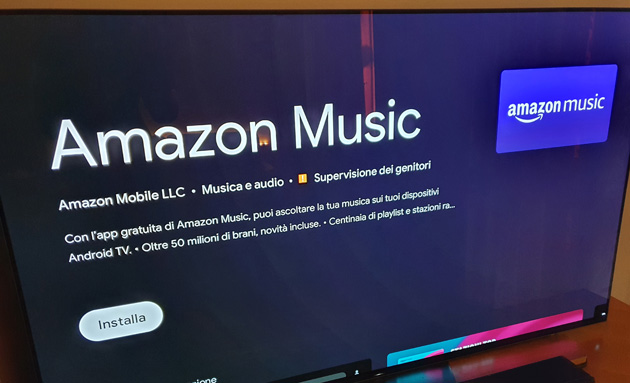 Foto Amazon Amazon Music per Android TV disponibile in Italia