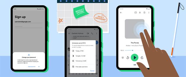 Android offre sei nuove funzioni, tra cui Controllo Password
