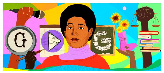 Google dedica Doodle a Audre Lorde, professoressa e sostenitrice dei diritti civili acclamata a livello internazionale