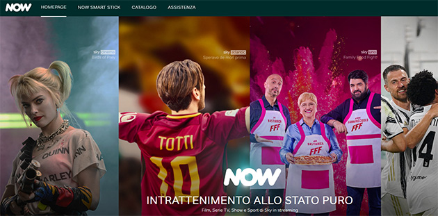 Foto NOW TV diventa NOW: Sky cambia il nome della sua Internet TV, ora disponibile anche su Amazon Fire TV
