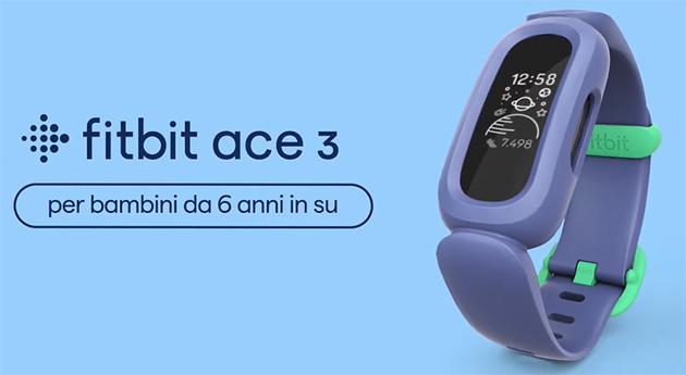 Fitbit Ace 3, tracker di attivita' e sonno per bambini dai 6 anni