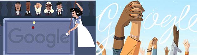 Google Doodle per Masako Katsura e la Giornata Internazionale della Donna 2021 (7 e 8 marzo)
