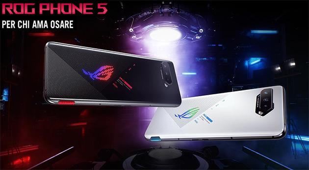 Asus ROG Phone 5 ufficiale: Specifiche, Caratteristiche, Foto, Video, Accessori e Prezzi in Italia