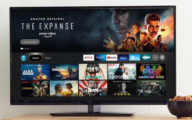 Amazon Fire TV, anche 4k, si aggiorna con nuova Interfaccia Utente in Italia