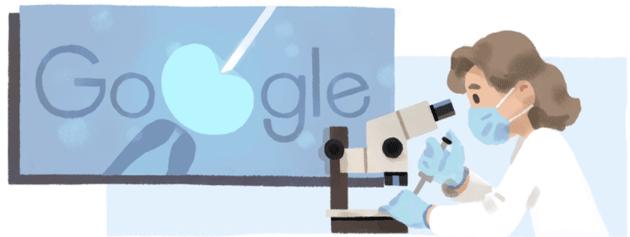 Google dedica doodle a Anne McLaren, ha aiutato molte persone a realizzare il sogno di diventare genitori