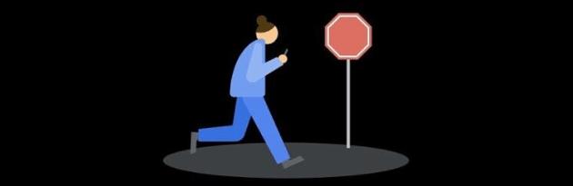 Google Heads Up invita a fare attenzione e alzare lo sguardo quando si cammina usando il telefono