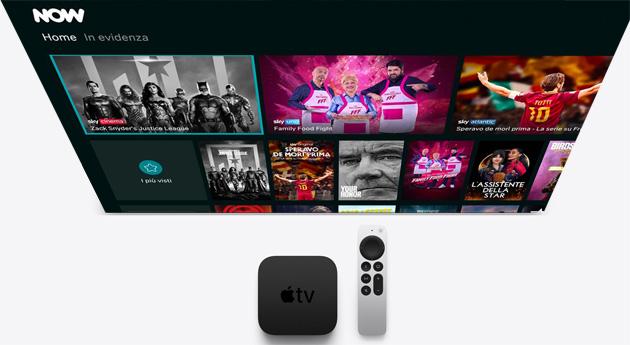 NOW su Apple TV, app ora disponibile