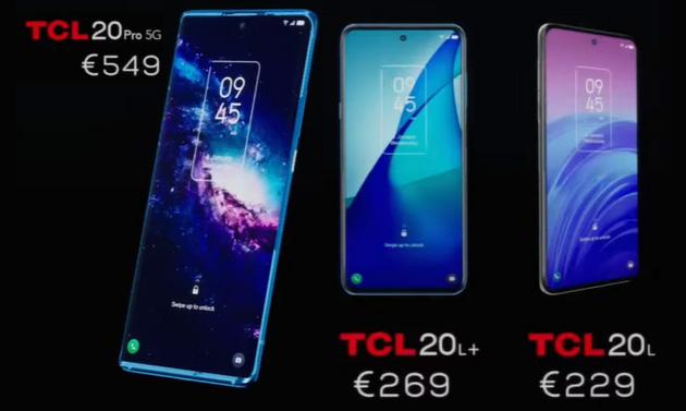 TCL 20Pro 5G, TCL 20L Plus e TCL 20L ufficiali: Specifiche, Foto, Video e Prezzi