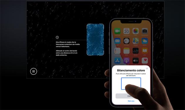 Apple TV, come usare Bilanciamento Colore tramite iPhone