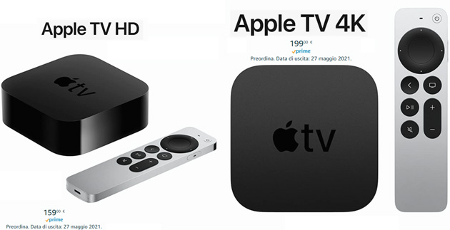 Foto Apple TV 4k e HD 2021: Specifiche a Confronto. Disponibili anche su Amazon