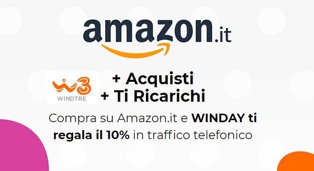 WindTre tramite WinDay regala bonus in traffico telefonico acquistando da selezionati partner
