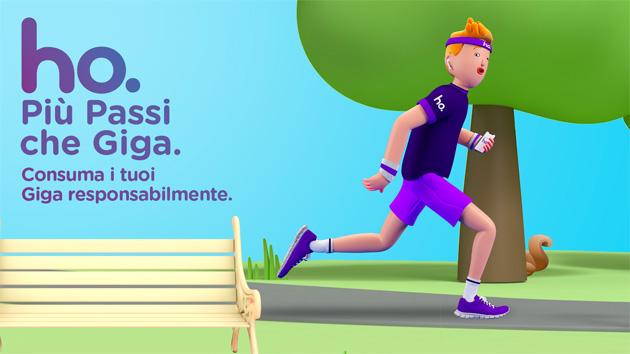 Ho. Mobile invita i clienti a sfidare il proprio consumo di giga camminando