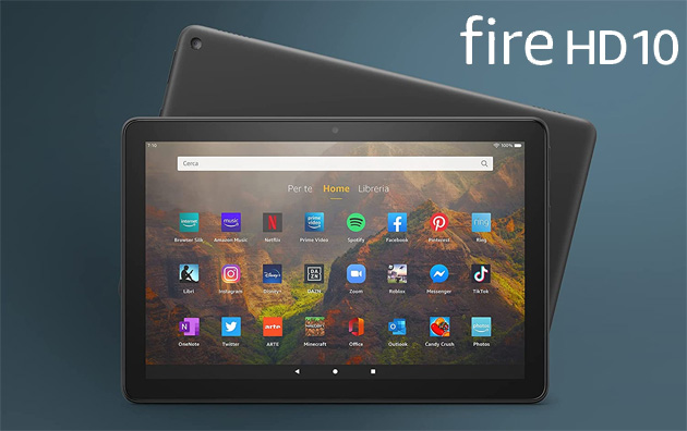 Foto Amazon Fire HD 10 2021 (11a Gen) in Italia: Specifiche, Foto e Prezzi