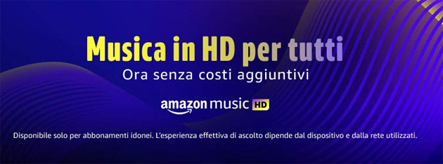 Foto Amazon Music include HD a tutti gli abbonati senza costi aggiuntivi: la risposta di Amazon a Apple Music HD