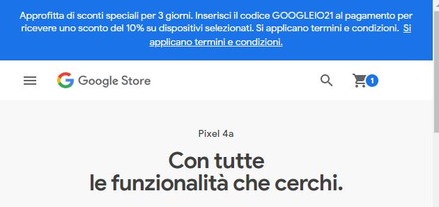 Google Store Online sconta dispositivi selezionati per 3 giorni in occasione di Google IO 2021