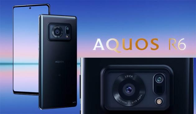 Sharp Aquos R6 con display a 240Hz e grande obiettivo fotografico Leica ufficiale