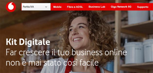 Vodafone Business lancia Kit Digitale, pacchetto di servizi chiavi-in-mano per crescita online di piccole e medie imprese