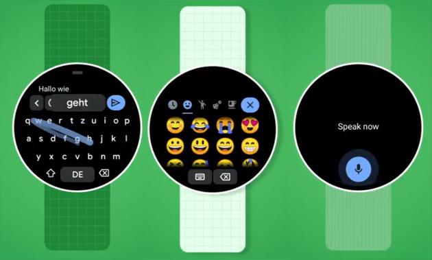 Gboard su Wear OS con supporto Multilingue, Suggerimenti e Input da testo, voce ed emoji