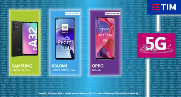 TIM lancia le Offerte di Primavera 2021 su smartphone 5G Samsung, Oppo, Xiaomi, TCL e Motorola