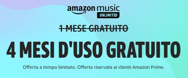 Amazon Music Unlimited gratis 4 mesi: offerta Prime Day valida fino al 22 giugno