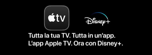 App Apple TV integra Disney Plus anche in Italia