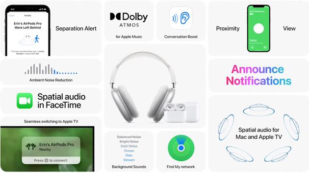 Apple presenta Dolby Atmos su Apple Music, Audio Spaziale su Apple TV e macOS, Conversation Boost su AirPods