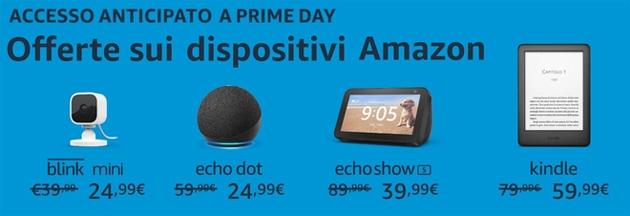 Prime Day 2021, i dispositivi Amazon in offerta anticipata