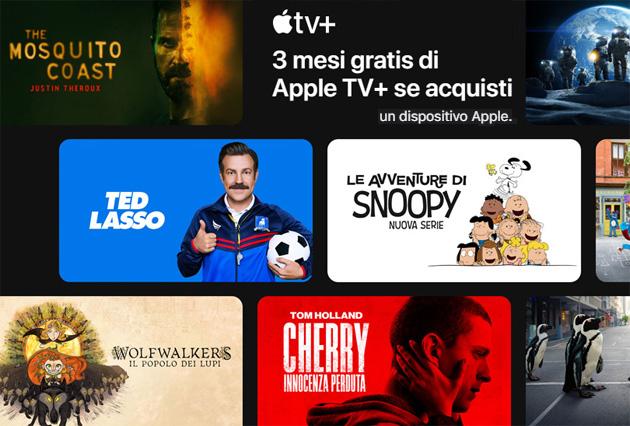 Apple TV Plus, come attivare 3 mesi di abbonamento gratuito dopo aver comprato un nuovo dispositivo Apple
