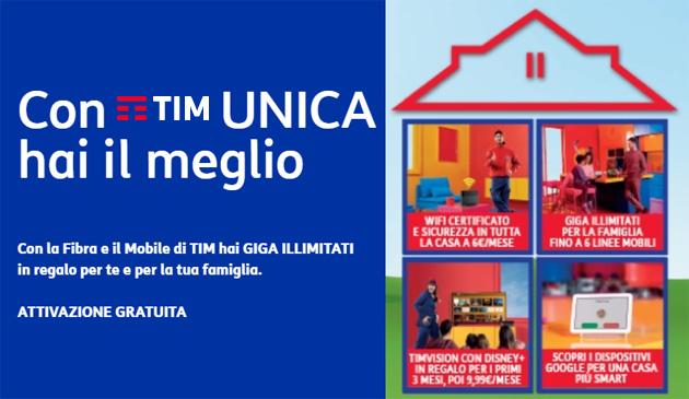 TIM Unica: per i clienti TIM fisso e Mobile giga illimitati sullo smartphone: Come Funziona