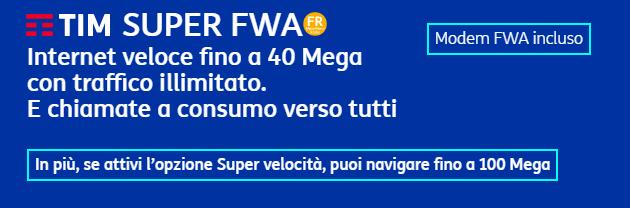 TIM FWA ancora piu' veloce: fino a 100Mbps su tecnologia Radio mobile